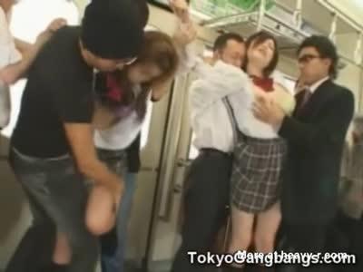 Japanese train schoolgirl