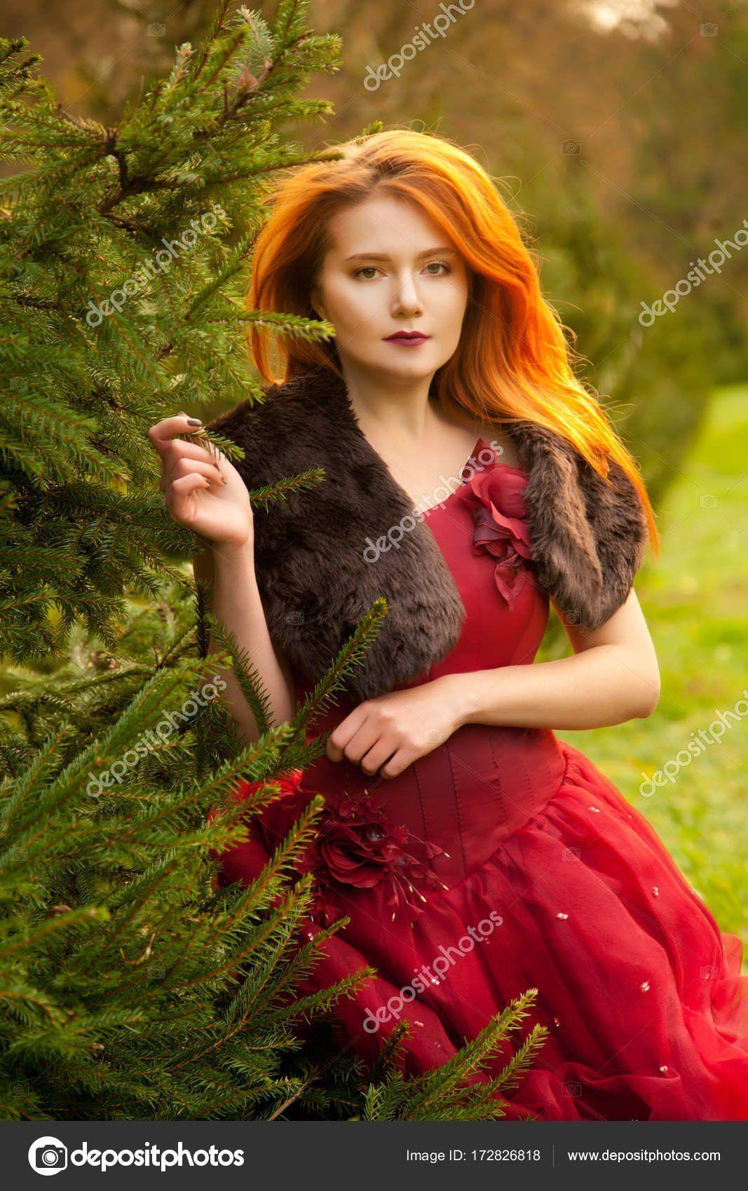 Vice reccomend Young redhead in an evening dress