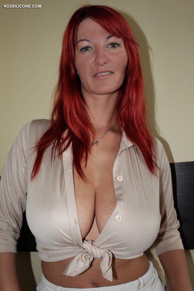 Tits big busty redhead