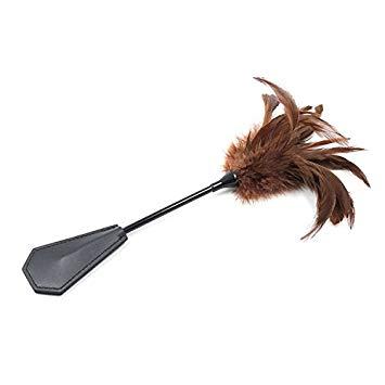 Black I. reccomend Bondage tools feather
