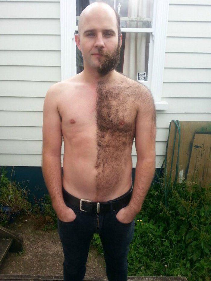 Guys with shaved bodies
