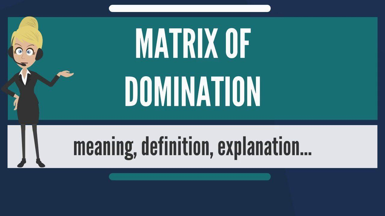 Meaning of matrix of domination