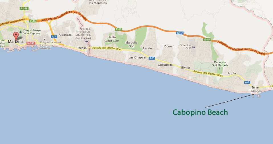 Cabopino swinger beach picture