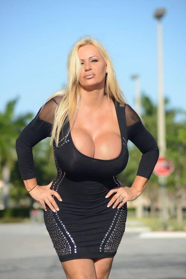 Big dresses tight blonde tits