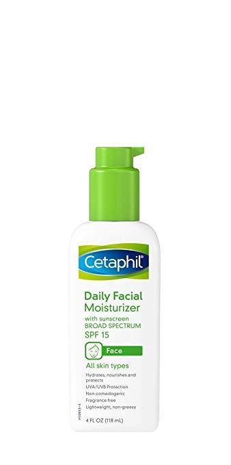 Fragrance free facial moisturizer
