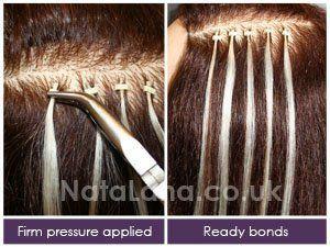 Bonding strip hair extensions