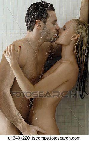 best of Showering naked Couple