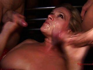 Blonde fucked facial multiple