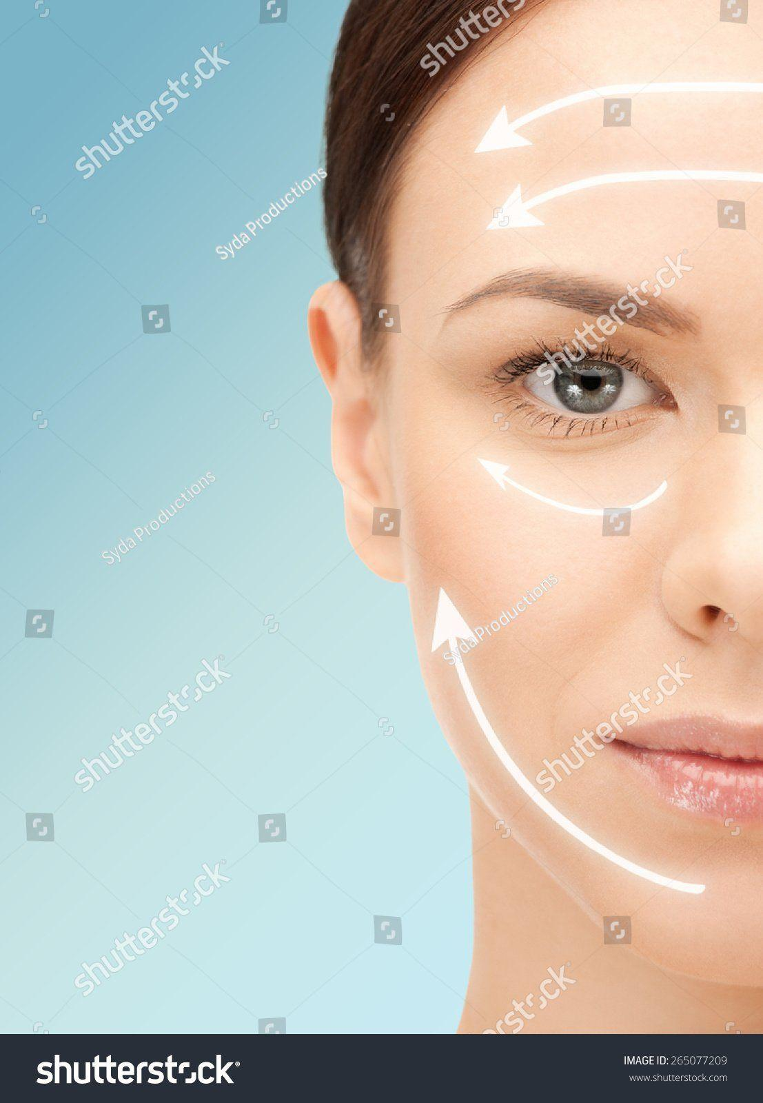Facial hydrogel mask for plastic surgeons