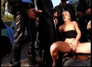 best of Gang banged biker Girl bar at