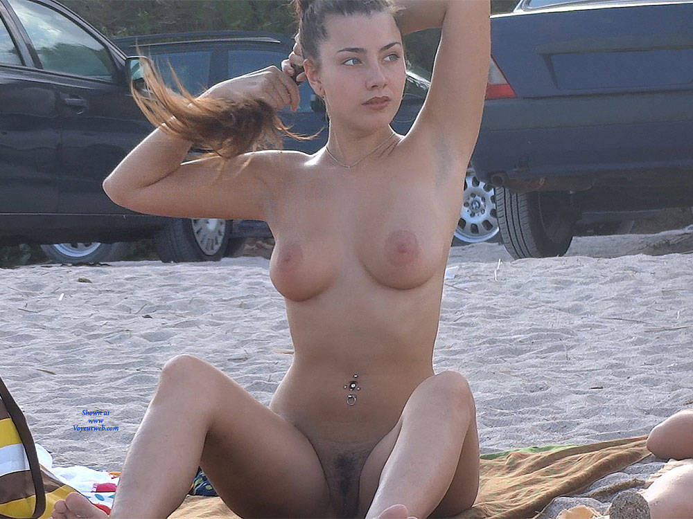 best of Tits video Beach. Big on the brunette Topless Nice