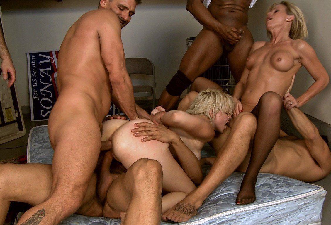 Orgy women fucking men