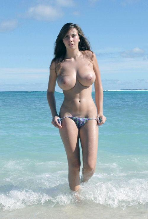 Nude beach breasted women big