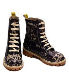 Sugar band geek ankle boot blk asian flora
